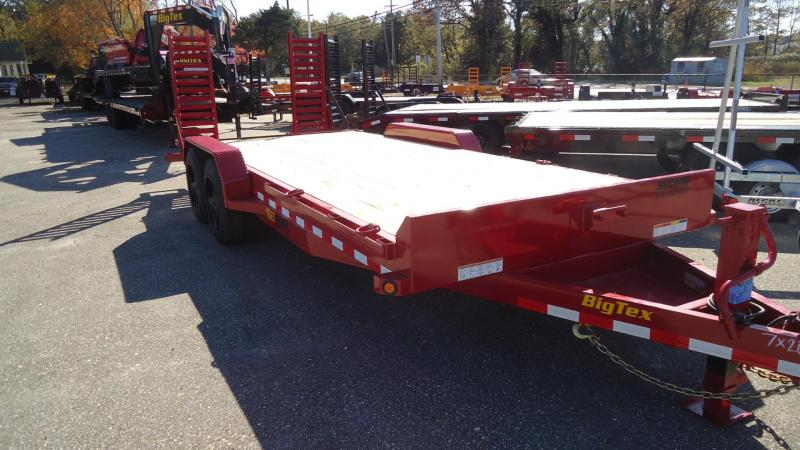 2020 Big Tex Trailers EH 7X20 16ET 173RDKR KNEE RED Equipment Trailer
