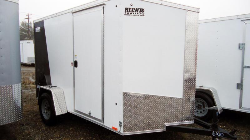 2020 Pace American 6X10 JVSE SI2 24VS RAMP SVNT WHITE & BLACK Enclosed Cargo Trailer