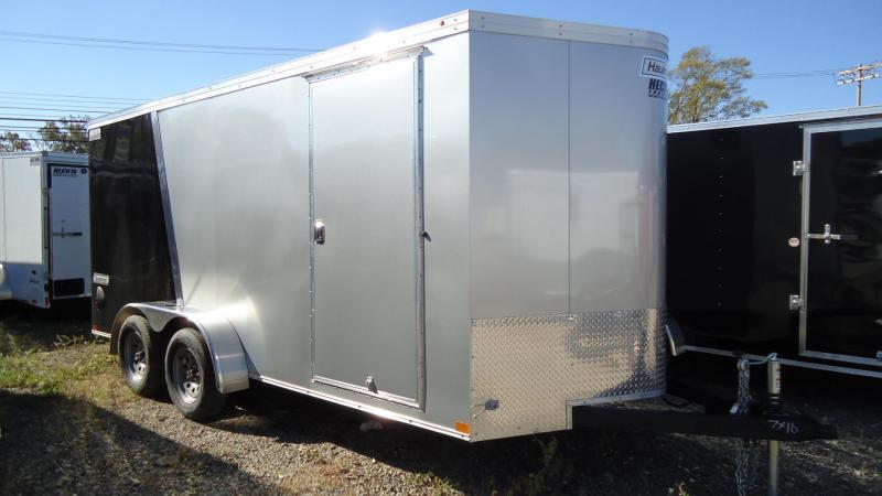 2020 Haulmark 7X16 TSV T2 RAMP SILVER BLACK Enclosed Cargo Trailer
