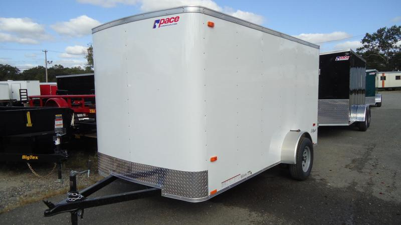 2020 Pace American 6X12 OB SI2 RAMP WHITE Enclosed Cargo Trailer