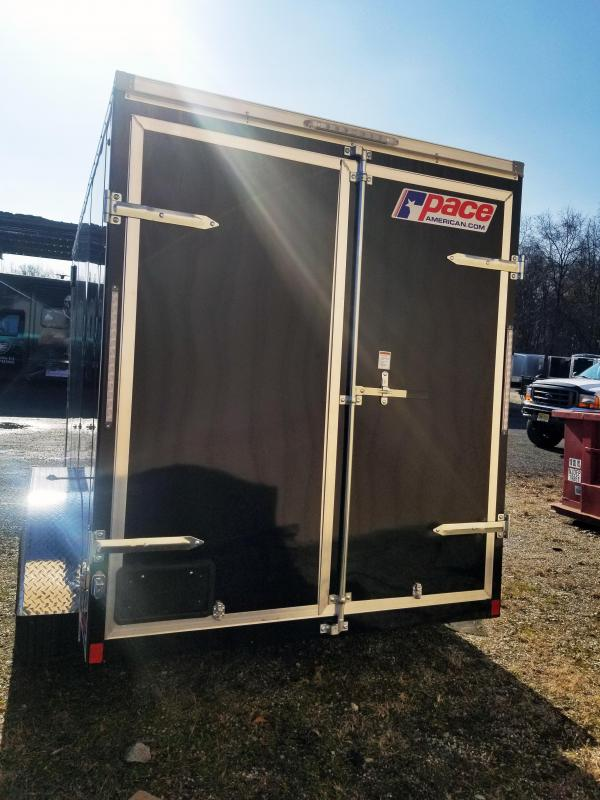 "2020 Pace American 6X12 JVSE TE2 24VS 6""X SVNT SILVER & BLACK Enclosed Cargo Trailer"