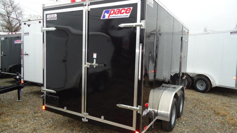 2021 Pace American 7X14 OB TE2 6X BLACK Enclosed Cargo Trailer