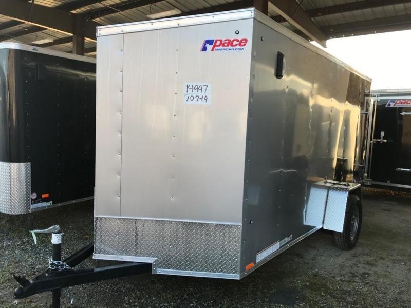 2020 Pace American 6X12 OBDLX SI2 24VS RAMP SVNT SILVER & BLACK Enclosed Cargo Trailer