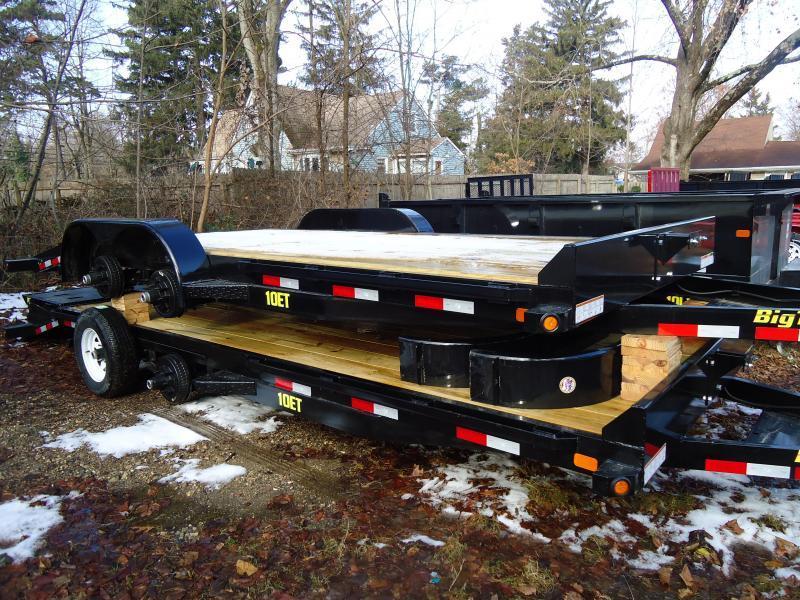 2018 Big Tex Trailers EH 7X18 10ET 18BK-KR KNEE BLACK Car / Racing Trailer