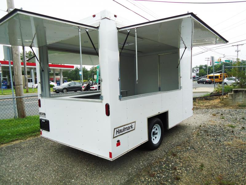 2018 Haulmark 7X12 EZ DS2 WHITE Vending / Concession Trailer