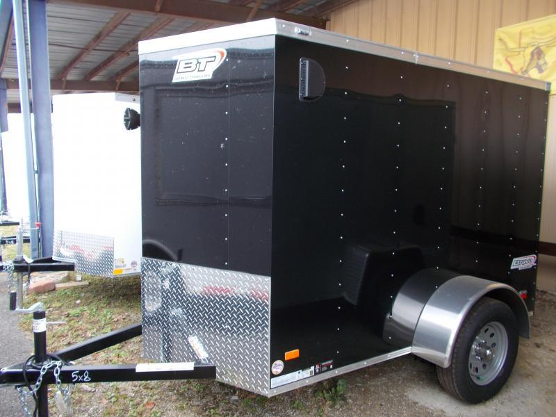 2020 Bravo Trailers 5X8 SC SA 18V 6X RAMP APP BLACK Enclosed Cargo Trailer