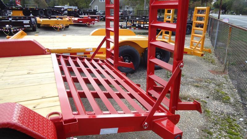 2020 Big Tex Trailers EH 7X18 14ET 18RDKR KNEE DT RED Equipment Trailer
