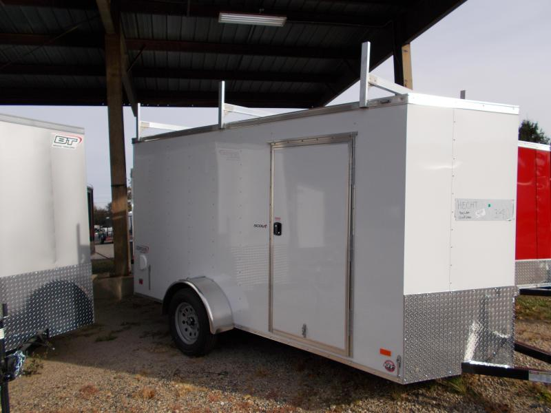 2020 Bravo Trailers 6X12 SC SA 18V LADRCK WHITE Enclosed Cargo Trailer