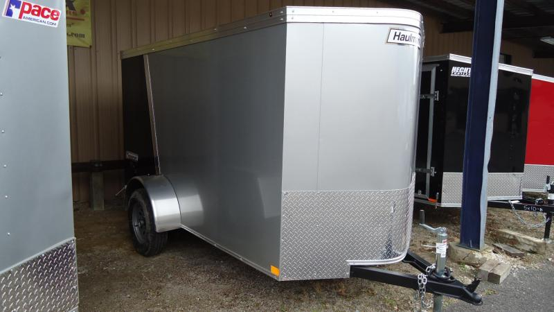 2020 Haulmark 5X10 TSV S2 SILVER & BLACK Enclosed Cargo Trailer