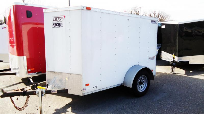2012 Bravo Trailers USED 5x8 SCOUT WHITE TRAILER WITH RAMP Enclosed Cargo Trailer