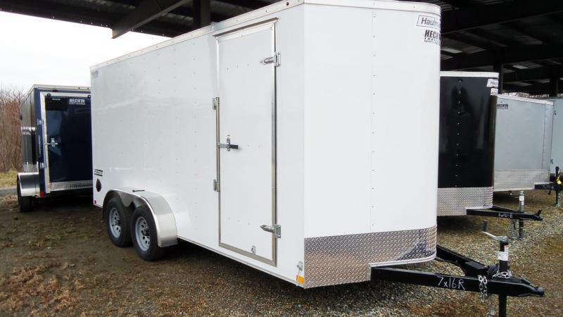 2019 Haulmark 7X16 PP T2D 6X RAMP WHITE Enclosed Cargo Trailer