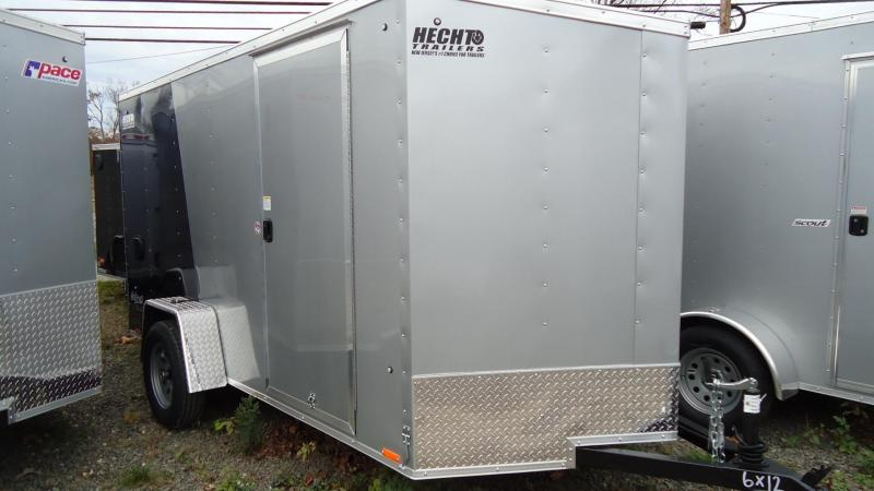 2021 Pace American 6X12 OBDLX SI2 24VS SVNT SILVER& BLUE2 DLX Enclosed Cargo Trailer