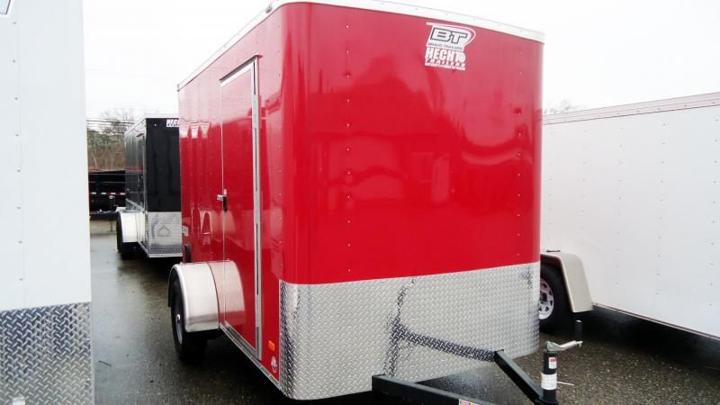 "2019 Bravo Trailers 6X10 SC RAMP 6"" HGT RED Enclosed Cargo Trailer"