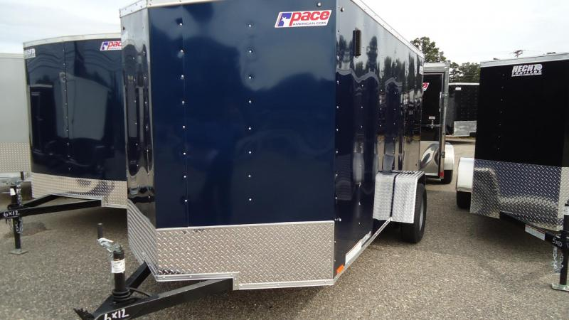 "2020 Pace American 6X12 OBDLX SI2 24""VS RAMP SVNT BLUE Enclosed Cargo Trailer"