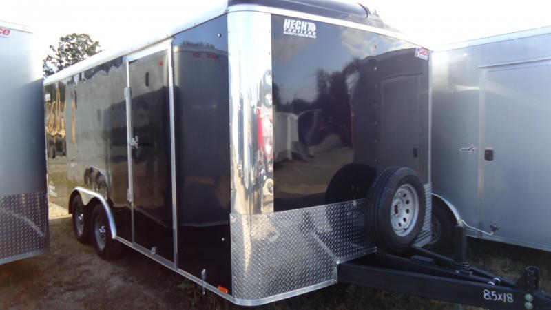 2020 Pace American 8.5X18 CLS TE2 18TUNG RAMP SPARE BLACK Enclosed Cargo Trailer