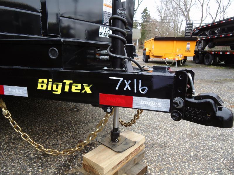 2020 Big Tex Trailers DT 7X16 14LX 16BK7SIR P4 7K HYJCK TARP BLACK Dump Trailer