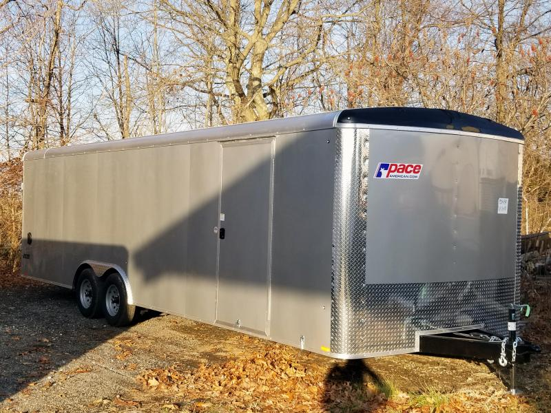 2020 Pace American 8.5X26 JTSE TE3 RMP EXT ESC DR SVNT SILVER Car / Racing Trailer