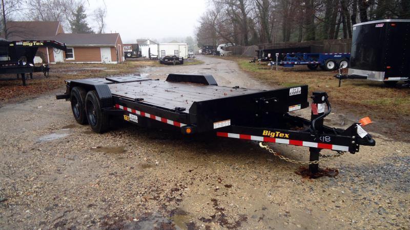 2020 Big Tex Trailers EH 7X18 16ET 15+3BK MEGA BLACK Car / Racing Trailer
