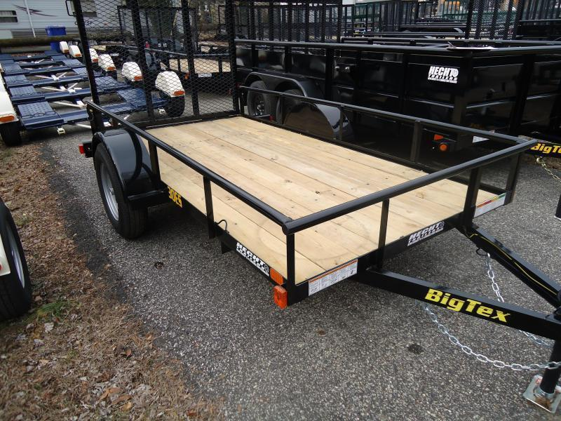 2020 Big Tex Trailers UT 5X10 30ES 10BK 4RG BLACK Utility Trailer