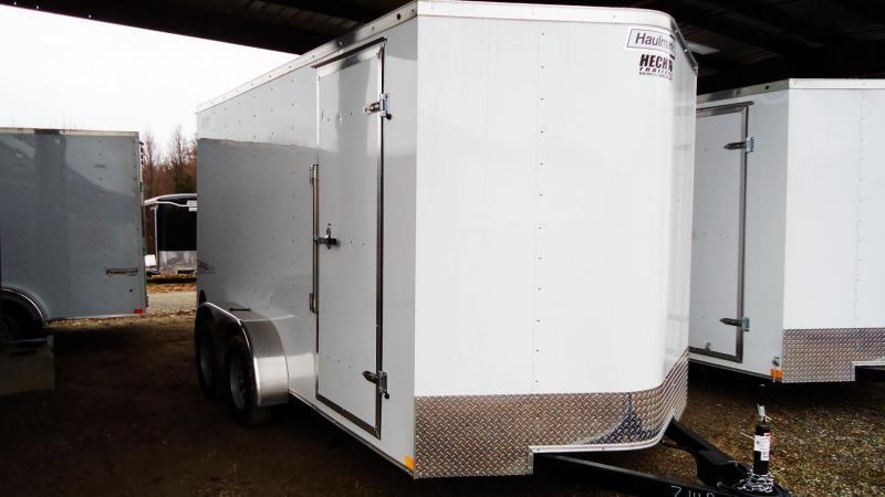 "2019 Haulmark 7X14 PP T2-D 6""X RAMP WHITE Enclosed Cargo Trailer"