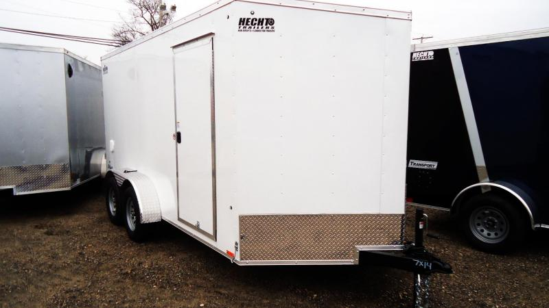 2021 Pace American 7X14 OBDLX TE2 30VS 6X RAMP SVNT WHITE Enclosed Cargo Trailer