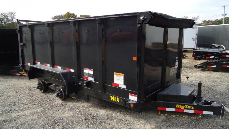 2020 Big Tex Trailers DT 7X14 14LX 14BK7SIR P4 HD JCK TARP BLACK Dump Trailer