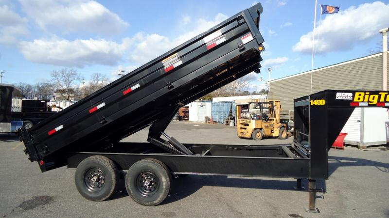 2020 Big Tex Trailers DT 8X14 14OD 14GN FDS BLACK Dump Trailer