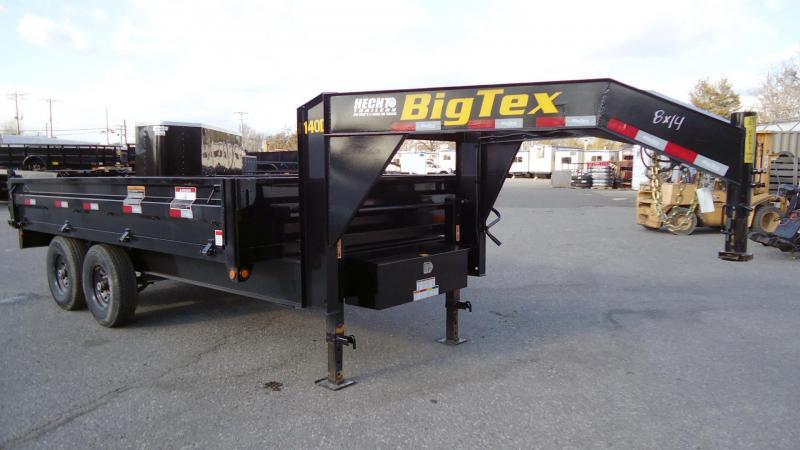 2020 Big Tex Trailers DT 8X14 14OD 14GN FDS BLACK Dump Trailer