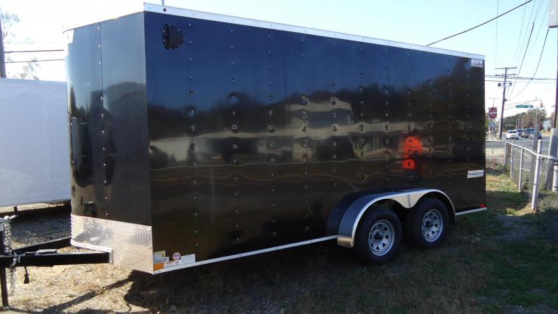 2020 Haulmark 7X16 PP T2D 6X RAMP BLACK Enclosed Cargo Trailer