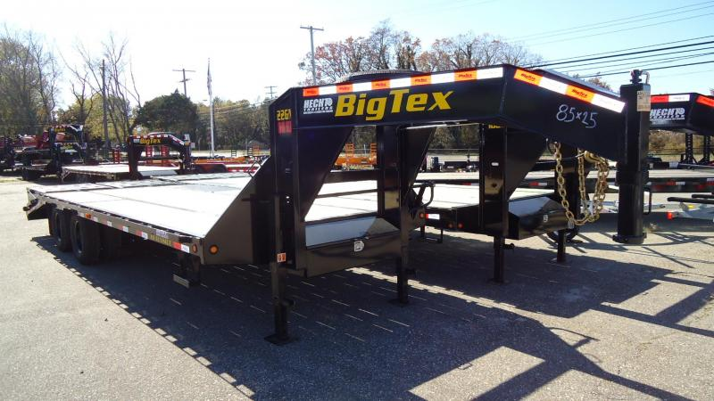2020 Big Tex Trailers EH 8.5X25 22GN 20BK 5DT MEGA BLACK Equipment Trailer