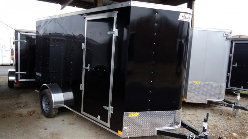 2020 Haulmark 6X12 PP S2 D RAMP BLACK Enclosed Cargo Trailer