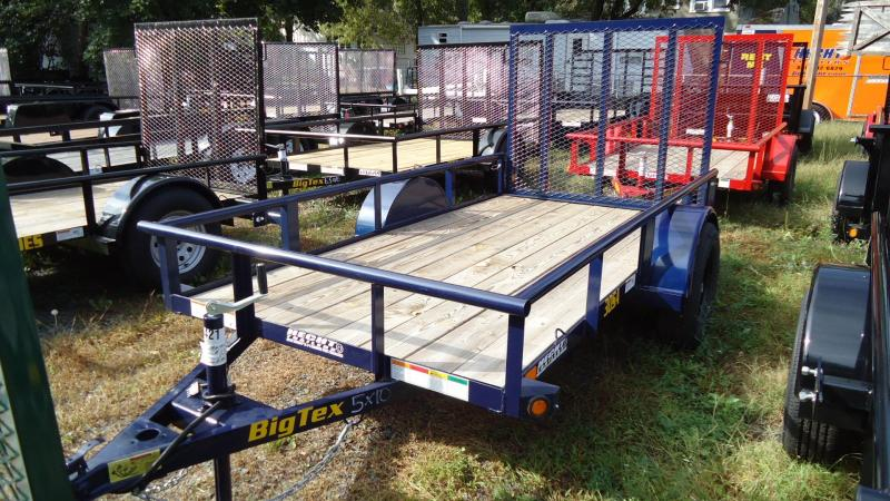 2020 Big Tex Trailers UT 5X10 30SA 10BE4RG BLUE Utility Trailer