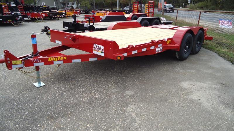 2020 Big Tex Trailers EH 7X16 10ET 16RDMR MEGA RED Equipment Trailer