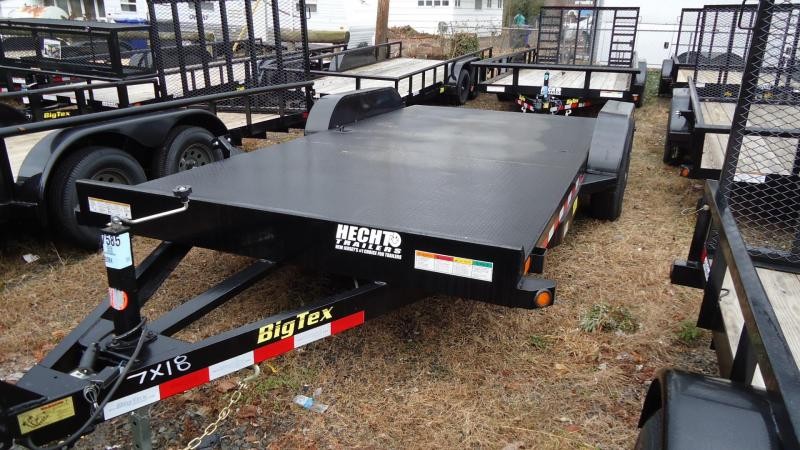 2019 Big Tex Trailers CH 7X18 10DM 18BK BLACK Car / Racing Trailer