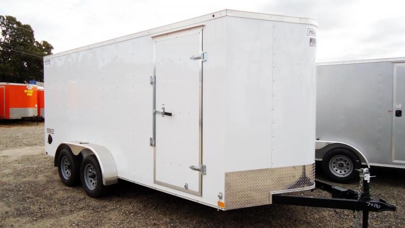 2020 Haulmark 7X16 PP T2 RAMP WHITE Cargo / Enclosed Trailer
