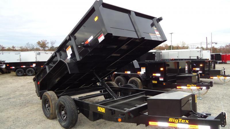2020 Big Tex Trailers DT 6X10 90SR 10BK7SIR BLACK Dump Trailer