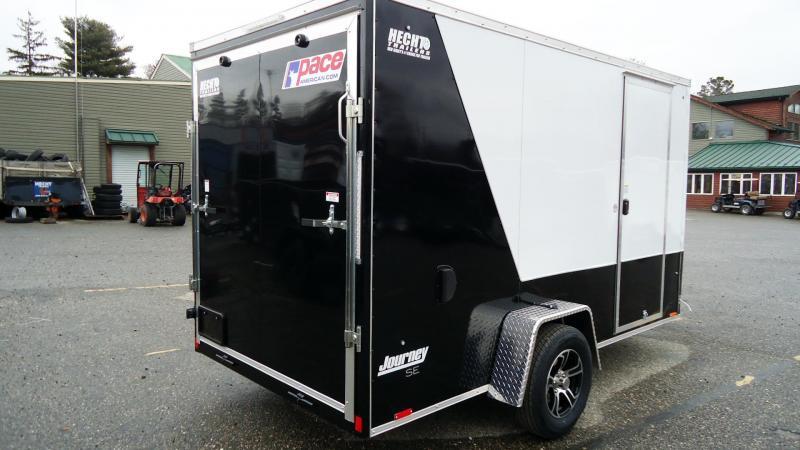 2021 Pace American 6X12 JVSE SI2 24VS 6X RAMP WHITE & BLACK Enclosed Cargo Trailer