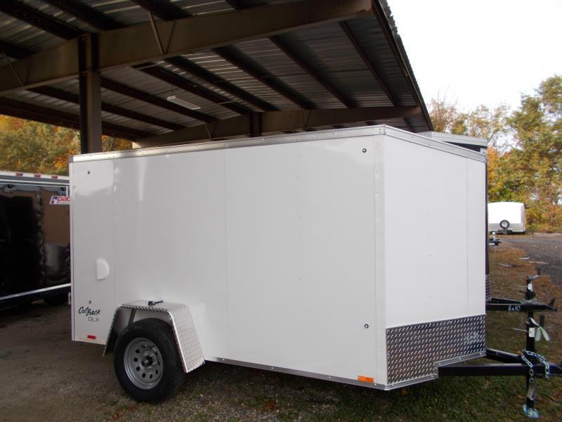 2020 Pace American 5X10 OBDLX SI2 24VS RAMP SVNT WHITE Enclosed Cargo Trailer