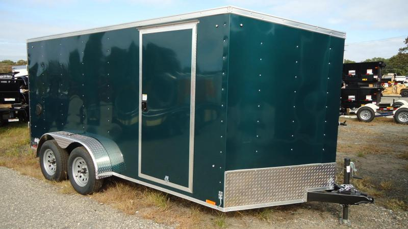 2021 Pace American 7X14 OBDLX TE2 30VS RAMP SVNT GREEN Enclosed Cargo Trailer