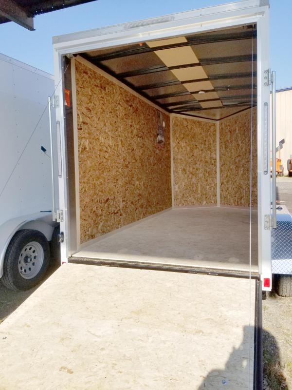 "2020 Pace American 6X12 OBDLX TE2 24VS 6""X RAMP WHITE Enclosed Cargo Trailer"