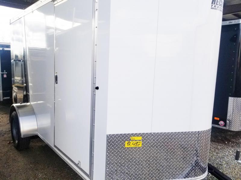 2020 Haulmark 6X12 TSV S2 RAMP/WHITE & BLUE Enclosed Cargo Trailer
