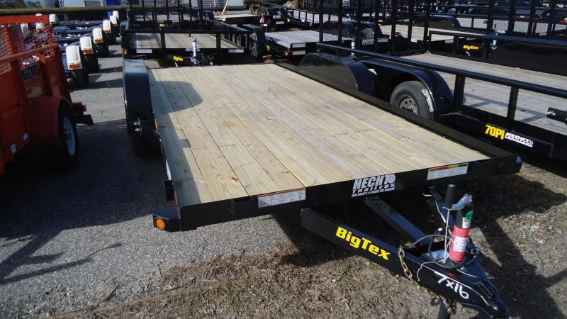 2020 Big Tex Trailers CH 7X16 60EC 16BK 4SIR 2EB BLACK Car / Racing Trailer