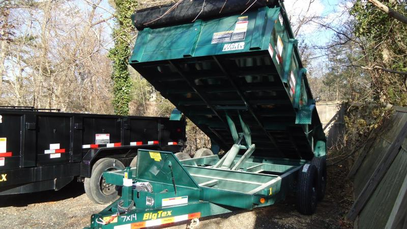 2020 Big Tex Trailers DT 7X14 14LX 14GR RAMPS GREEN Dump Trailer