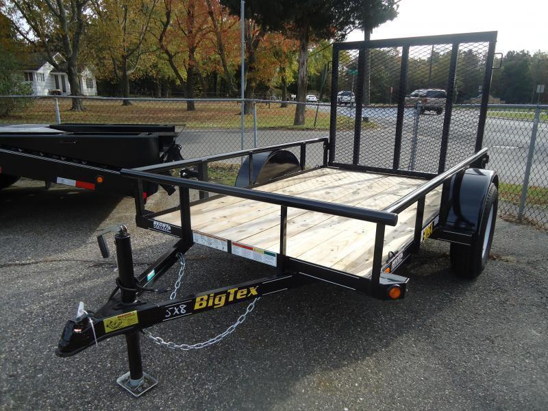 2020 Big Tex Trailers UT 5X8 30SA-08BK4RG BLACK Utility Trailer