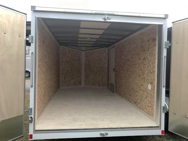 2021 Pace American 7X14 OBDLX TE2 30VS SVNT WHITE Enclosed Cargo Trailer
