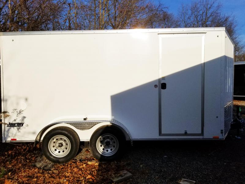 "2020 Pace American 7X14 JVSE TE2 30 VS 6""X RAMP SVNT WHITE Enclosed Cargo Trailer"