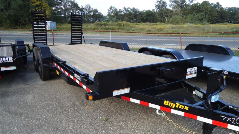 2020 Big Tex Trailers EH 7X20 16ET 17 3KN KNEE DT BLACK Equipment Trailer