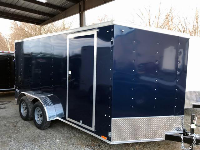 2021 Pace American 7X14 OBDLX TE2 30VS SVNT BLUE Enclosed Cargo Trailer