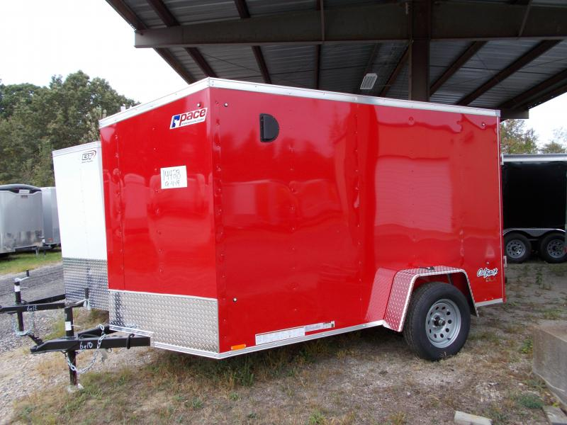 2020 Pace American 6X10 OBDLX SI2 24VS RAMP SVNT RED Enclosed Cargo Trailer