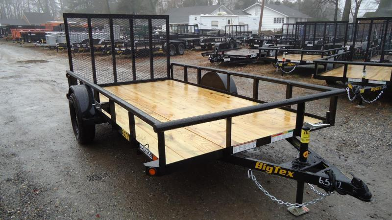 2020 Big Tex Trailers UT 6.5X12 35SA 12BK 4RG BLACK Utility Trailer
